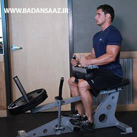 حرکت ساق پا نشسته در بدنسازی